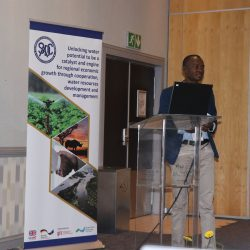 Mr. Silvanus Uunona, Programme Manager at CUVEOM presenting the plan.